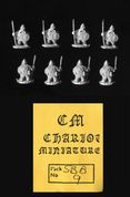 Chariot Miniatures 15mm Fantasy SBB9 Armoured Dwarves with Spear (x 8)